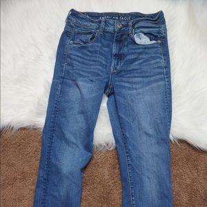 American Eagle Hi Rise Skinny Jeans 6 Short